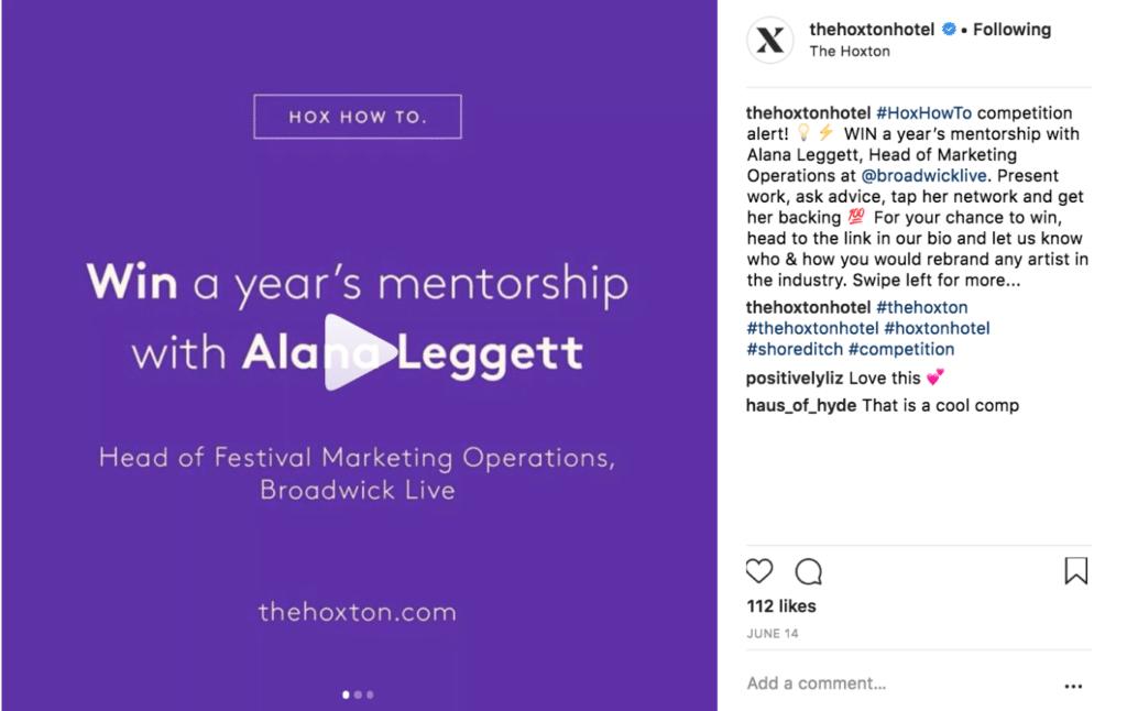 Mentorship social media competition